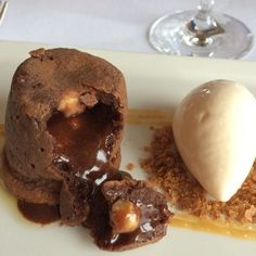 Fabulous dessert moulton chocolate toasted hazelnuts @galvins_edinburgh