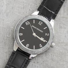Gibeon Meteorite Watch, Metal Wristwatch With Faux Alligator Strap-JE1008-4