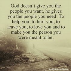 God won't give you anything he doesn't plan on helping you through.