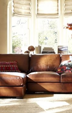 Leather Sectional #potterybarn