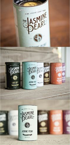Unique Packaging Design on the Internet, The Jasmine Pearl Tea Co. #packaging #packagingdesign #branding #tea