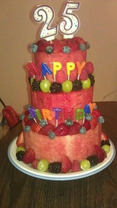 cake made entirely of fruit Let them eat cake Pinterest