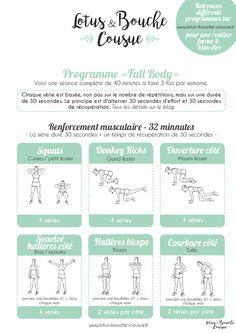 """Un programme complet et gratuit qui travaille tout le corps. Progamme fitness """"Full Body"""" à la maison."""