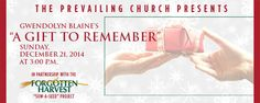 """On December 21 The Prevailing Church will present Gwendolyn Blaine's Christmas play, """"A Gift to Remember."""" With donations going to Forgotten Harvest. http://forgottenharvest.org/events/detail.aspx?i=83"""