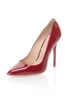 Piros Lakkozott Bőrcipő