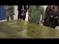 Rex Ray creating a piece of art at gallery16 in 2009. Fascinating. #artists #videos #process
