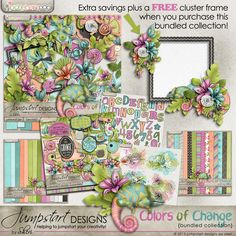 Colors of Change ~ Bundled Collection by Jumpstart Design at 30% off at Pickleberrypop.  The kit can also be bought separately