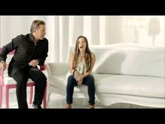 """La Gloria De Dios"" sung by Ricardo Montaner & his daughter Evaluna Montaner - So precious to see/hear him singing praise to God; growing up, I heard his secular music all the time. God makes beautiful changes in people. :)"