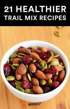 21 Healthier Trail Mix Recipes to Make Yourself #healthy #trailmix #recipes http://greatist.com/health/21-healthier-trail-mix-ideas