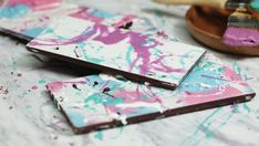 Recipe with video instructions: Show off your artistic side while stepping up your chocolate game with these stunning painted bars. Ingredients: Candy melts (assorted colors), Large chocolate...