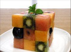 Como faz: cubinhos de fruta