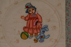 Doll with bunny embroidery design - Old Toys art and embroidery - Gallery - Machine embroidery forum