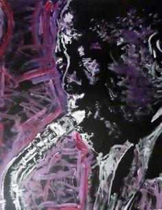 Abstract Pop Art Painting on Canvas, Charlie Bird Parker, Charlie Parker, Jazz Art, Music Art, Hand Painted Art, Wall Decor, Wall Art by MattPecson on Etsy