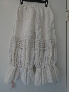 RARE!! Authentic Magnolia Pearl White Crochet and Lace Boho Hippie Bloomers #MagnoliaPearl #Bloomers