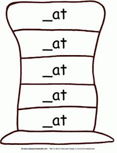 """Variety of """"hat patterns"""" for sentence strips, word families, etc - Pinned by @PediaStaff – Please Visit http://ht.ly/63sNt for all our pediatric therapy pins"""