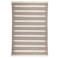 Bark Paddle Stripe Cotton Dhurrie #serenaandlily - LOVE this for the living room!
