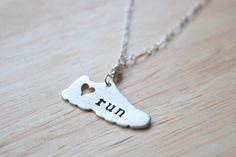 """""""I Love Running"""" Keepsake Necklace (Note from Taren: Add a custom-stamped charm for each race I do w/the race name, date, & my time.)"""
