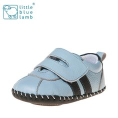 A classic blue leather sneaker by little blue lamb. One to match any outfit. Our new 'levi' boys soft soled pre walker shoe is a great addition to any little man's wardrobe. Check out our full range of first walkers over on our website http://thebusykidsshop.com/