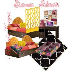 """Elegant Dorm Idea"" by muidlamoda on Polyvore"