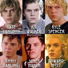 Evan Peters through the AHS Seasons. What a Chameleon!