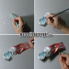 A toothpaste tube - hyperrealistic speed drawing by Marcello Barenghi