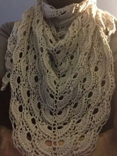 Airy and light but sure to dress up any outfit! This is made using a threadlike yarn but it's surprisingly warm also