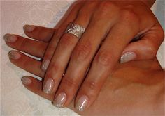 bridal nails | Stunning bridal nails that need no introduction, created with Clear ...