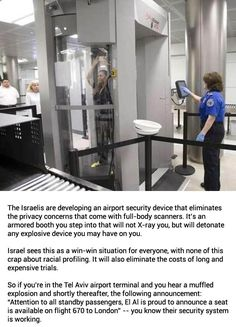 Israeli Airport Security Device