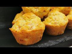 Cele mai bune briose sarate ideale pentru cina | Muffins salados receta fácil - YouTube