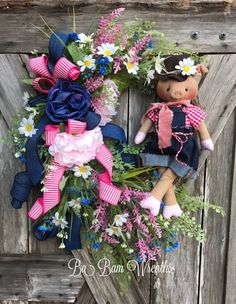 Reserved for Tisha Pig Wreath by BaBamWreaths on Etsy