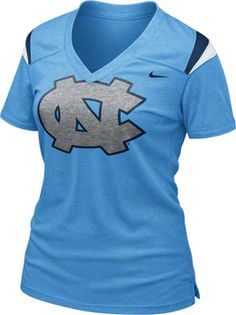 North Carolina Tar Heels Women's Nike Football T-Shirt #tarheels #unc #northcarolina