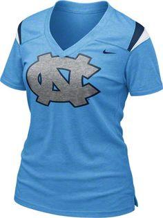 North Carolina Tar Heels Women's Nike Football T-Shirt