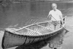 One of the earliest memories I have of seeing a birchbark canoe was a photo of Canada's Prime Minister, Pierre Elliott Trudeau (Octobe. Wood Canoe, Outdoor Life, Outdoor Stuff, Canoe And Kayak, Birch Bark, Wooden Boats, Boat Building, Water Crafts, First Nations