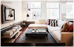 42 Cozy Soft White Couch Design Ideas for Small Living Room - About-Ruth Living Tv, Home Living Room, Living Room Designs, Living Spaces, Living Room Decor, Modern Living, Small Living, Salons Cosy, Couch Design