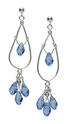 Crystal wire earrings | BeadStyleMag.com. These are cute and I will try!