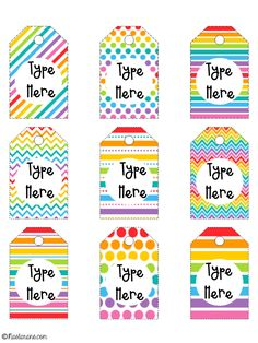 Printables Rainbow Christmas Labels And TagsThese Printable Tags Are Perfect For Teacher Kids Gift Ideas Simple Editable Fun
