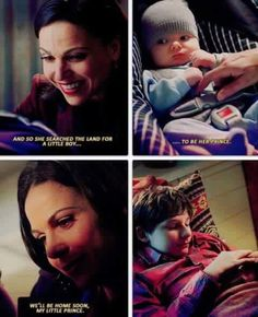 Awesome Regina/Henry/baby Henry in the awesome Once S3 E9 Save Henry aired Sunday 12-1-14