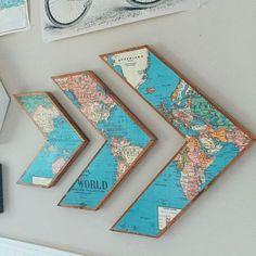 unique home decor homedecor home decor DIY Map Arrow Wall Art - DIY Wall Art Unique amp; Unique Home Decor, Cheap Home Decor, Creative Wall Decor, Diy Home Decor Easy, Creative Ideas, Diy Wall Art, Diy Art, Wall Décor, Map Wall Decor