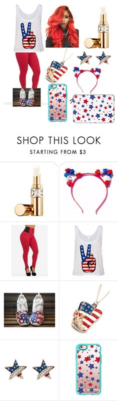 """Happy 4th of July Polyvore ⚪"" by ajrsmith ❤ liked on Polyvore featuring Yves Saint Laurent, Chicnova Fashion and Casetify"