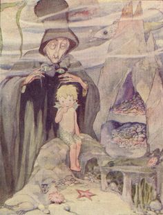 "Anne Anderson illustration for ""The Water Babies"" Andersen's Fairy Tales, Baby Illustration, Mermaid Tale, Merfolk, Illustrations And Posters, Nursery Rhymes, Vintage Children, In This World, Childrens Books"