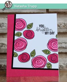STAMPtember® Spotted!: by Simon Says Stamp card creation by Natasha Trupp. 2014