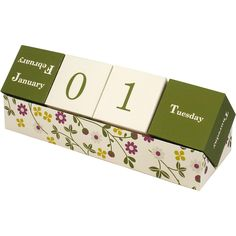 Perpetual calendar 0003 - Perpetual calendar - Calendars - Home and Living - Canon Creative Park Block Calendar, Calendar Home, Decorative Paper Crafts, Diy Paper, Cubes, Canon Inc, Calendar Stickers, Advent Calenders, Home Management Binder