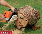 How to prepare a burl for turning, part 1