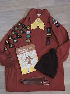 Brownie uniform, UK - early I remember wearing a beret instead of a bobble hat
