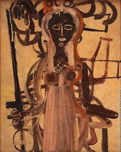 """""""Santa Bárbara"""" (1962) por René Portocarrero, pintor cubano. Nació en La Habana, en 1912. Murió en Cuba, Ciudad de La Habana, en 1985."""