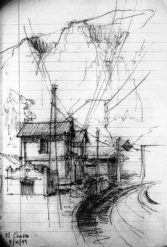 el chorro | luis ruiz | b+w sketch
