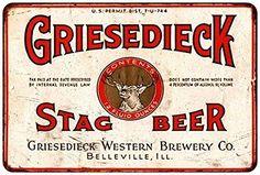 Griesedieck Stag Beer Vintage Look Reproduction 8x12 Metal sign