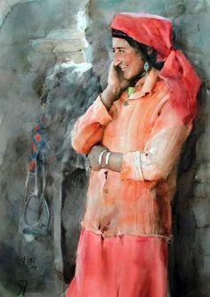 Guan Weixing - 1999_Horsewoman