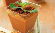 Creme de chocolate com hortelã: charme em sua mesa