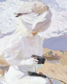 Joaquin Sorolla Capturing the Moment Spanish Canvas Print Poster  24X18/""